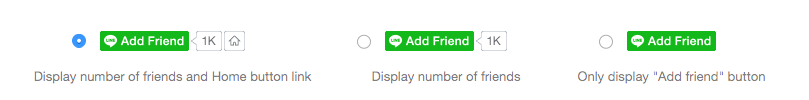 Add friend button types on LINE Social Plugins