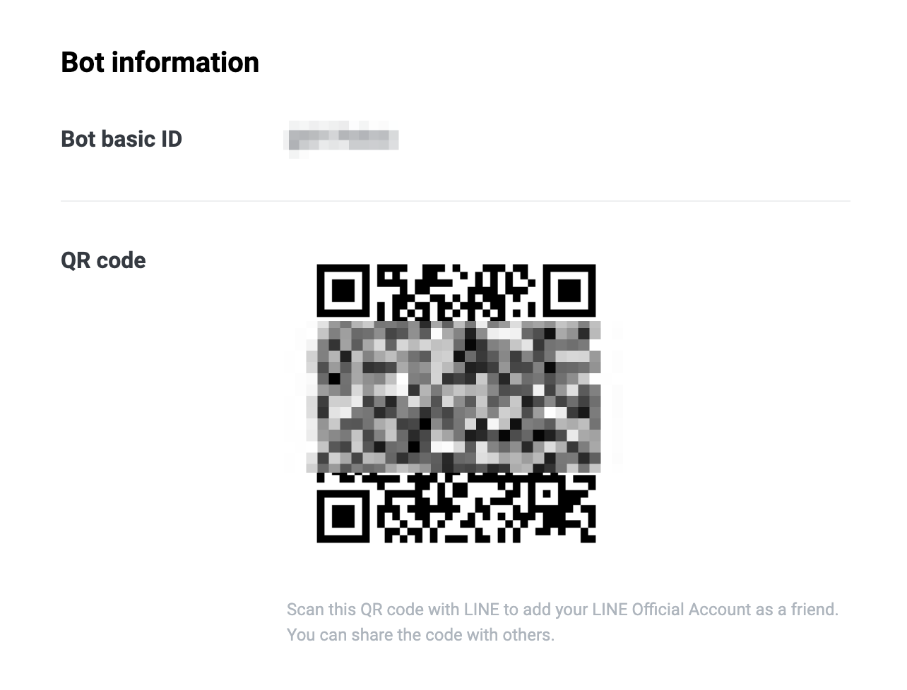 QR code console